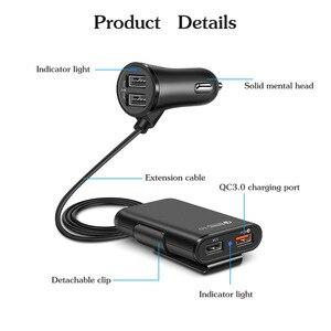 Image 2 - Автомобильное зарядное устройство NOHON QC 3,0 для iPhone 11 Pro Max, зарядное устройство для Xiaomi, Samsung с удлинительным кабелем