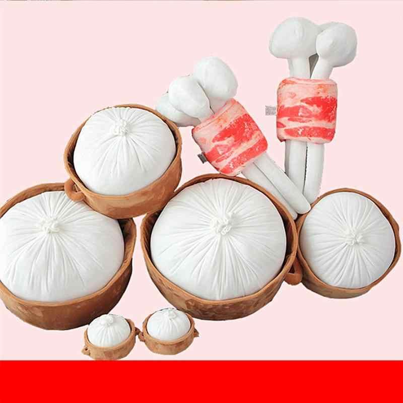 Kreative Weiche Umarmung Kissen Simulative Gedämpfte Brötchen Kissen 3D Gedämpfte Gefüllte Brötchen Chinesische Brot Plüsch Kissen Spielzeug Für Home Office