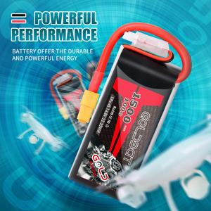 Image 4 - 1/2units GOLDBAT 1500mAh lipo Battery 4S 14.8V 100C Battery Pack for with XT60 Plug for fpv Drones Airplane FPV Racing