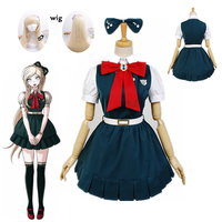 New Anime Super Danganronpa 2: Sayonara Zetsubou Gakuen Sonia nevermind Cosplay costumes and wig Halloween for women custom made