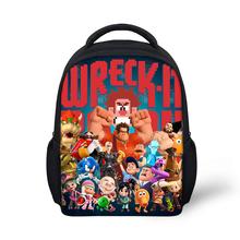 HaoYun przedszkole plecak dla dzieci wrak-It Ralph wzór niemowlęta szkolne torby na książki Cartoon 3D projekt anime chłopcy dziewczęta małe torby tanie tanio doginthehole Poliester zipper 28cm Torby szkolne Unisex 13cm Polyester 44cm 370g Wreck-It Ralph Pattern Unsiex Backpack+Messenger Bags+Pen bag