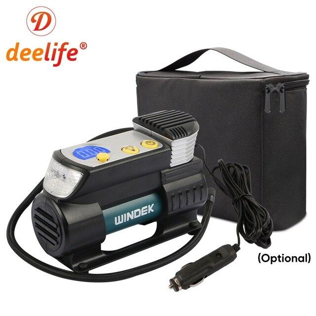 Deelife سوبر سريع ضاغط هواء للسيارة 12 فولت الرقمية السيارات منفاخ لإطارات السيارة الكهربائية الإطارات مضخة هواء للسيارات 12 فولت دراجة نارية SUV