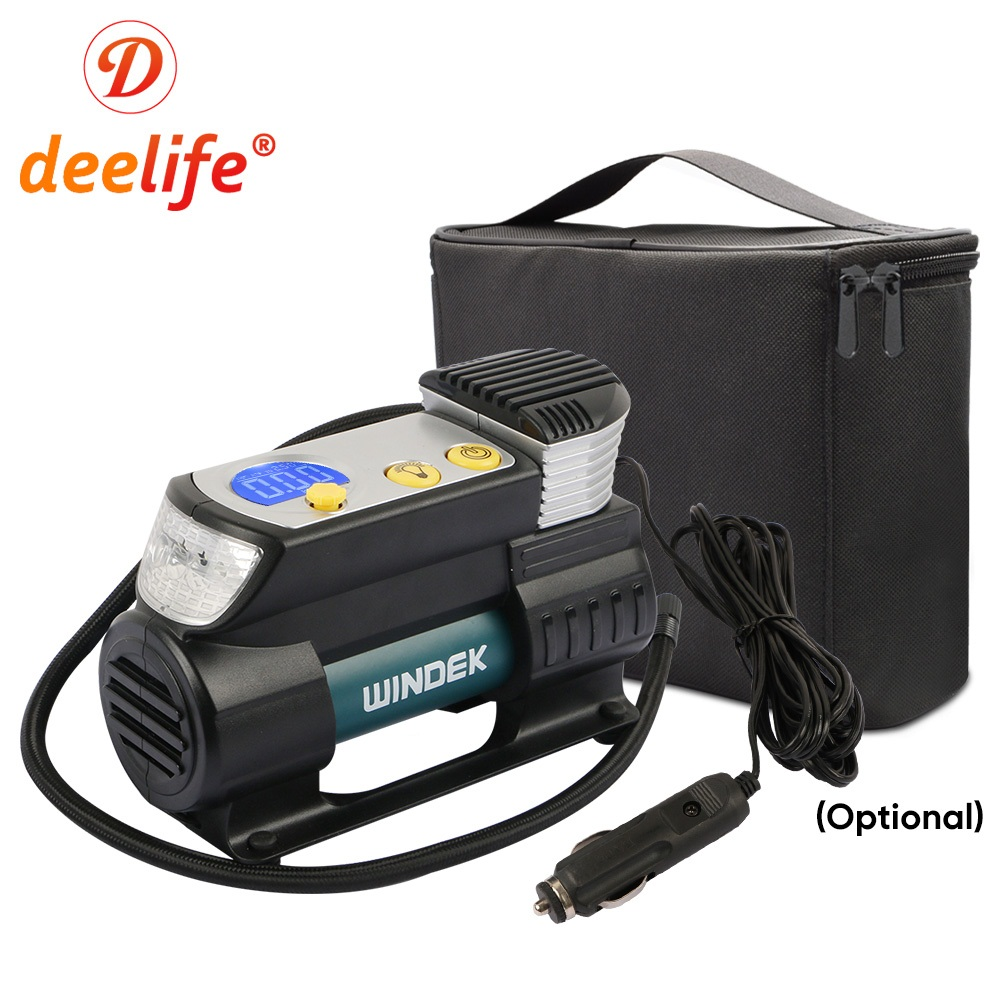 Deelife Air-Pump Car-Air-Compressor Auto-Tire-Inflator Electric-Tyre Motorcycle 12-Volt title=