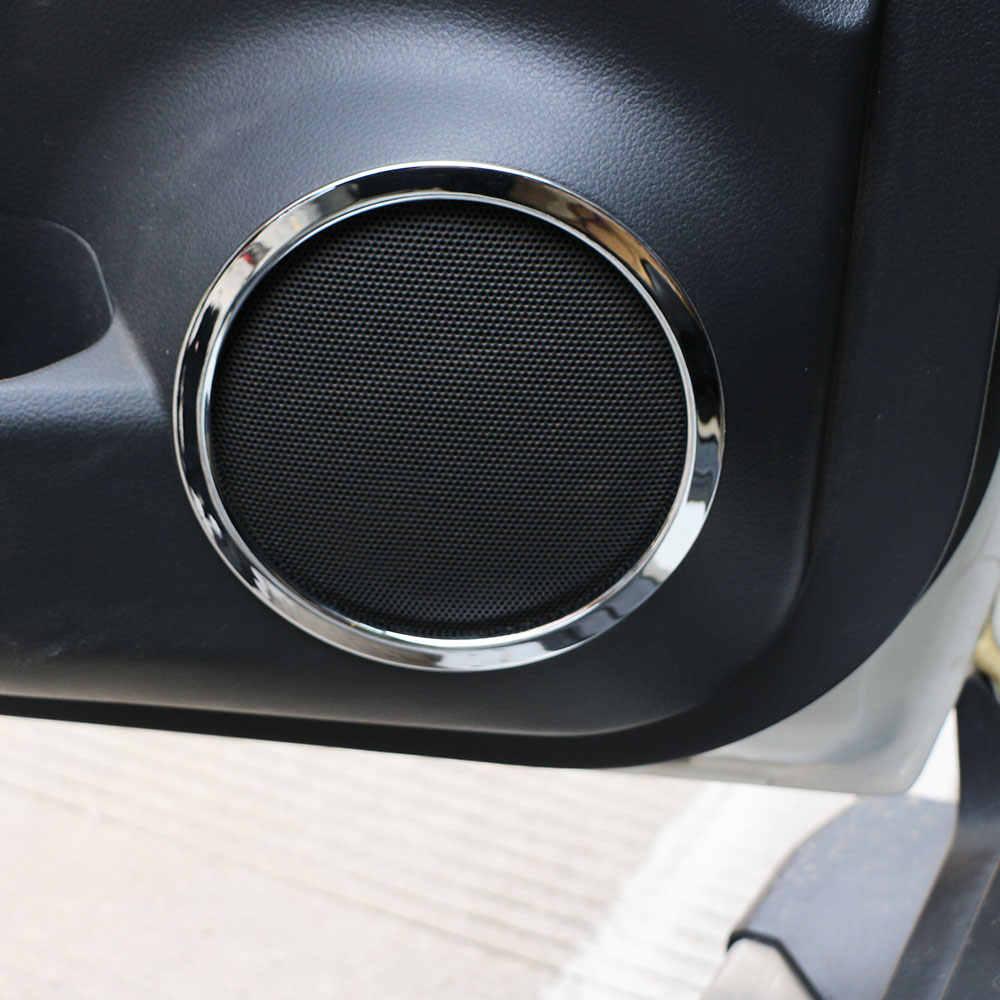 Zlotrd 4 個日産エクストレイル Xtrail 不正 T32 2013-2017 車のドアの音ステレオオーディオカバートリムリング ABS ツイータースピーカーカバー