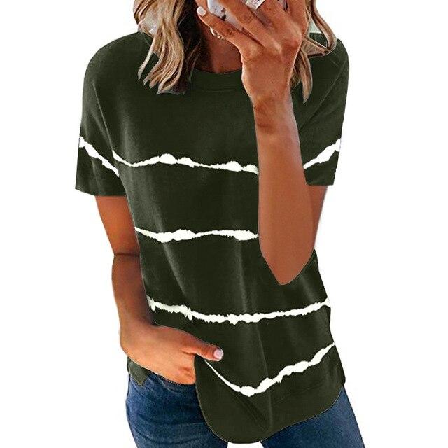 Свободная женская футболка модного покроя, коллекция лето 2021 6