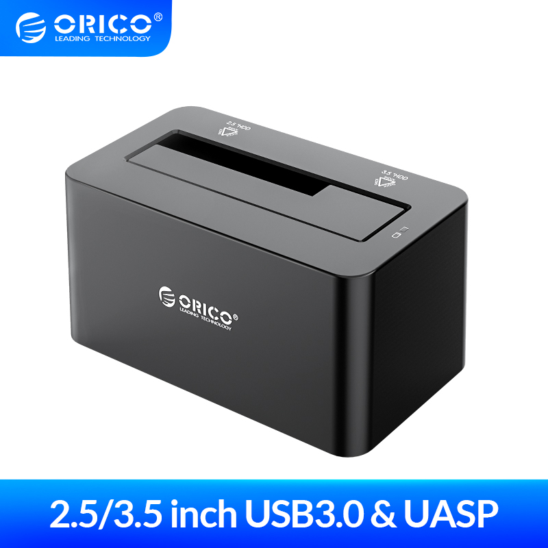 ORICO 2.5/3.5 inch USB3.0 to SATA HDD Docking Station Hard Disk Box 8TB with 12V2A Power Adapter Hard Drive Case Enclosure(China)