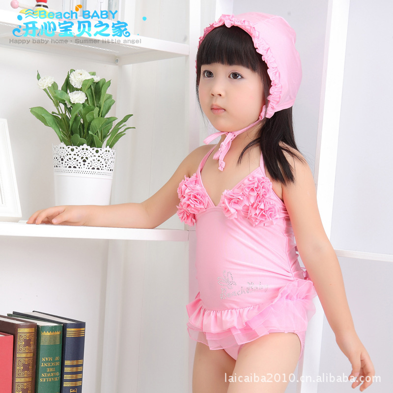 Girl'S One-piece Swimming Suit KID'S Swimwear Dance Skirt Tour Bathing Suit Bathing Suit