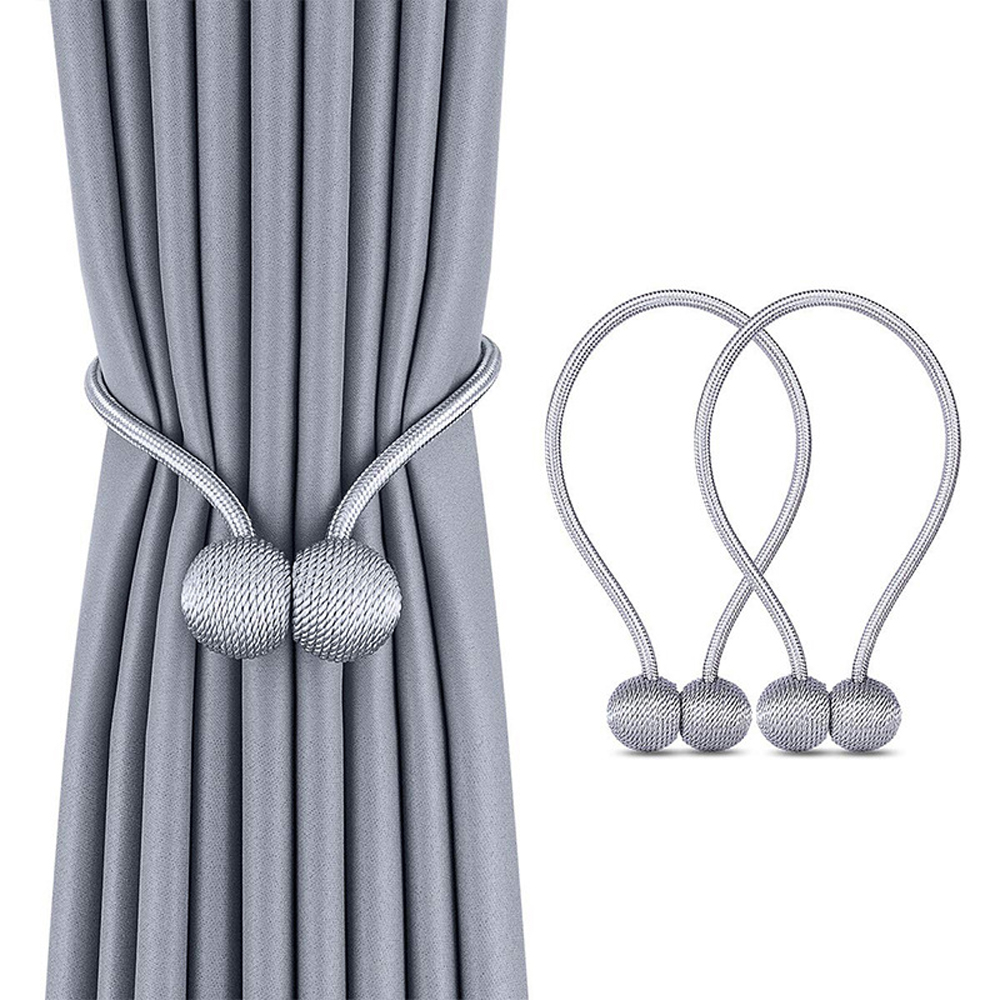Rope-Accessory Clips-Hook-Holder Tiebacks Buckle Rods Magnetic-Ball-Curtain Home-Decor