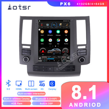 Android 8.1 Tesla Style GPS Navigation For Infiniti FX35 FX45 FX25 FX37 2003 2004 2005 2006 Auto Radio Stereo Multimedia Player