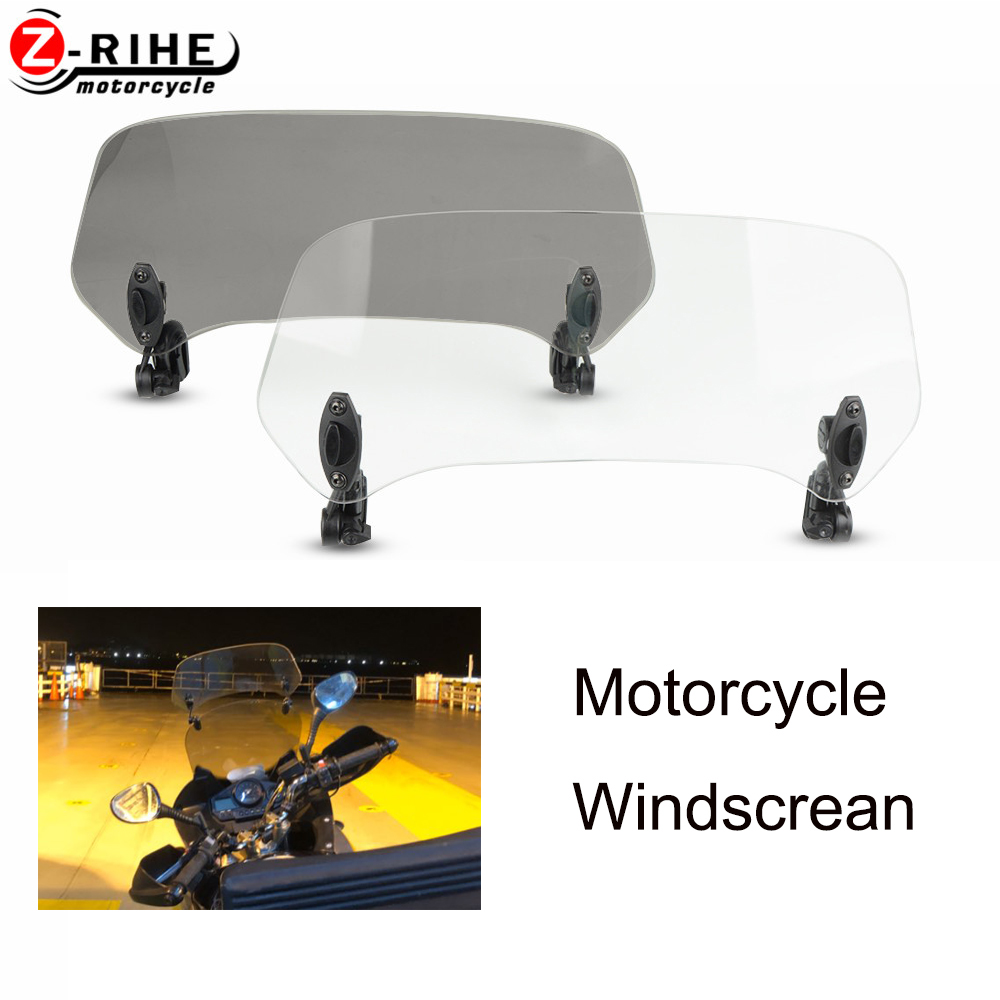 Moto accessories Universal Adjustable Screen Extension Windscreen Windshield For <font><b>YAMAHA</b></font> XT1200Z <font><b>XT1200</b></font> Z Super Tenere 2010-2018 image
