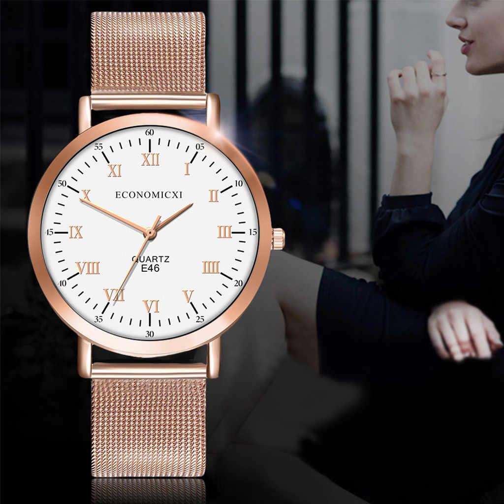 2020 relojes de moda de lujo de oro rosa para Mujer Zegarek Damski cuarzo marca superior Reloj de regalo de Festival Reloj de pulsera para Mujer
