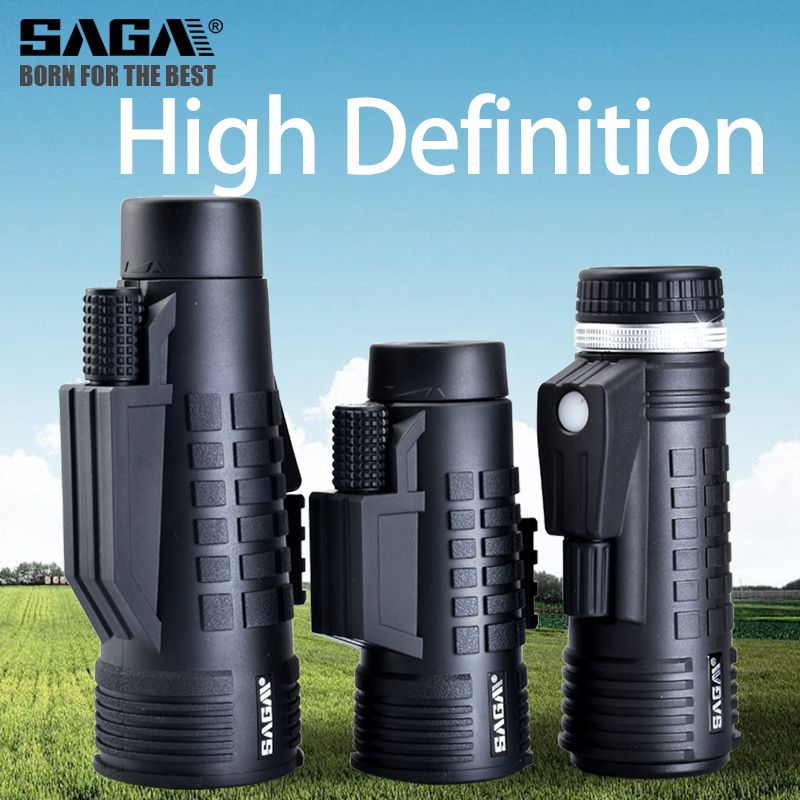 Monocular 50 Night Compact Telescopio Hunting Professional Telescope Prism Monoculars Bak4 Mini Vision 12X42 Light Saga 8 10 Low