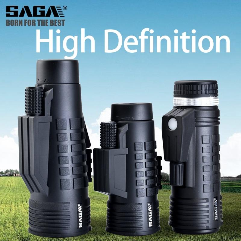 Monocular 50 Night Compact Telescopio Hunting Professional Telescope Prism Monoculars Bak4 Mini Vision 12X42 Light Saga 8 10 Low