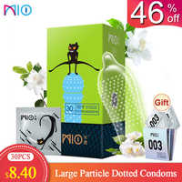 MIO Spike Condoms for Man G Spot Kondom Large Particle Big Dotted Condoms Delay Intimate Goods Sex Products Toys Penis Sleeve