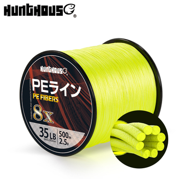 Hunthouse PE Braided Fishing Line 8 Stands Super Strong Multifilament 300m 500m 1000m yellow green