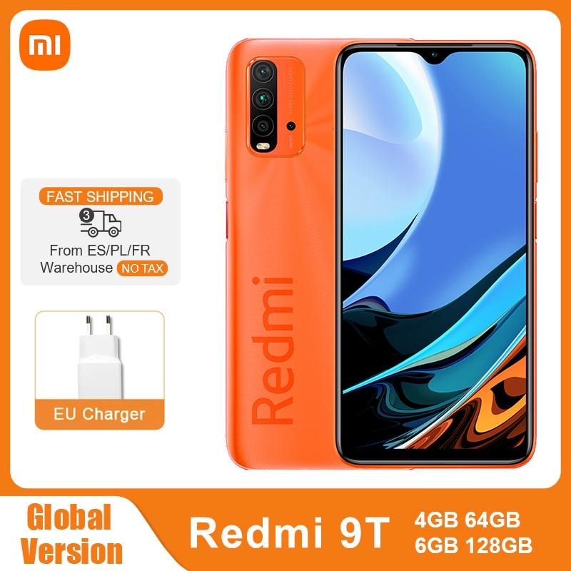 Глобальная версия Xiaomi Redmi-9 T, 4 ГБ/64 Гб/128 ГБ 9 T Смартфон Snapdragon 662 48MP Quad Camera 6000 мАч 6,53