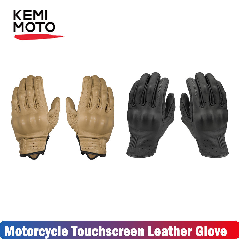 Kemimoto Motorcycle-Gloves Touchscreen Protective-Gears Cycling Full-Finger Summer Men