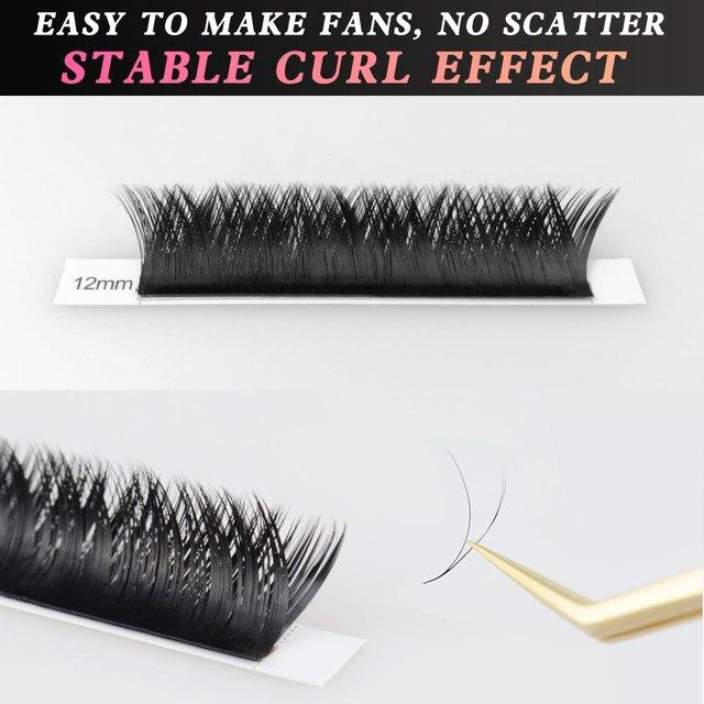 NAGARAKU Makeup V Shape Auto-Fans Eyelash Extension Volume Lashes  mega volume Cílios 0.05mm Easy-Fans Premium Natural Eyelashes 4