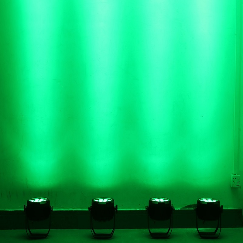 Free shipping new par light indoor dmx par can lighting 7*12w rgbwa+uv 6in1 IP33 wedding par light 64 led stage par 64 - 4