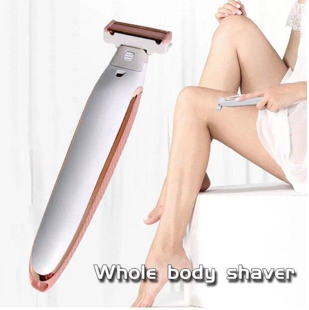 1 New Electric Ladies Epilator Razor Smooth Body Razor Painless Bikini Trimmer USB Rechargeable Fast Shaving Machine