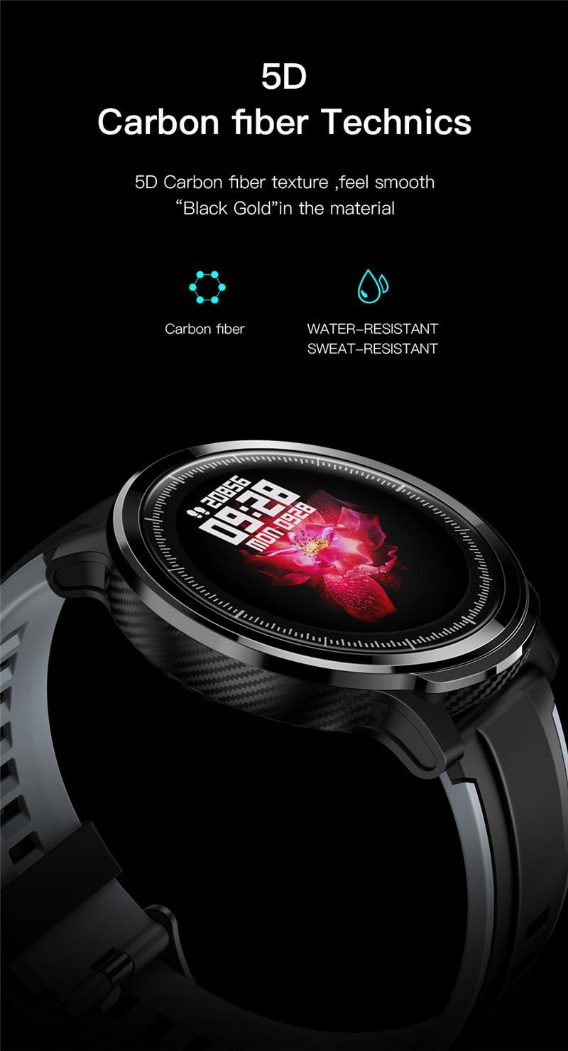 Eseed sn80 relógio inteligente homem ip68 à
