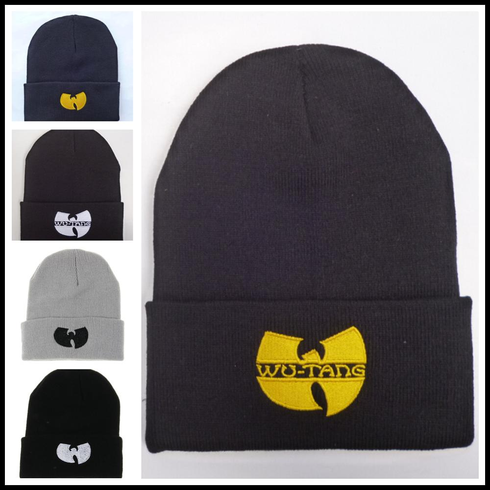 2019 High Quality WU TANG CLAN Men's Hats Unisex Winter Warm Casual Beanie Hat Women Hip Hop Black Knitted Bonnet Ski Cap