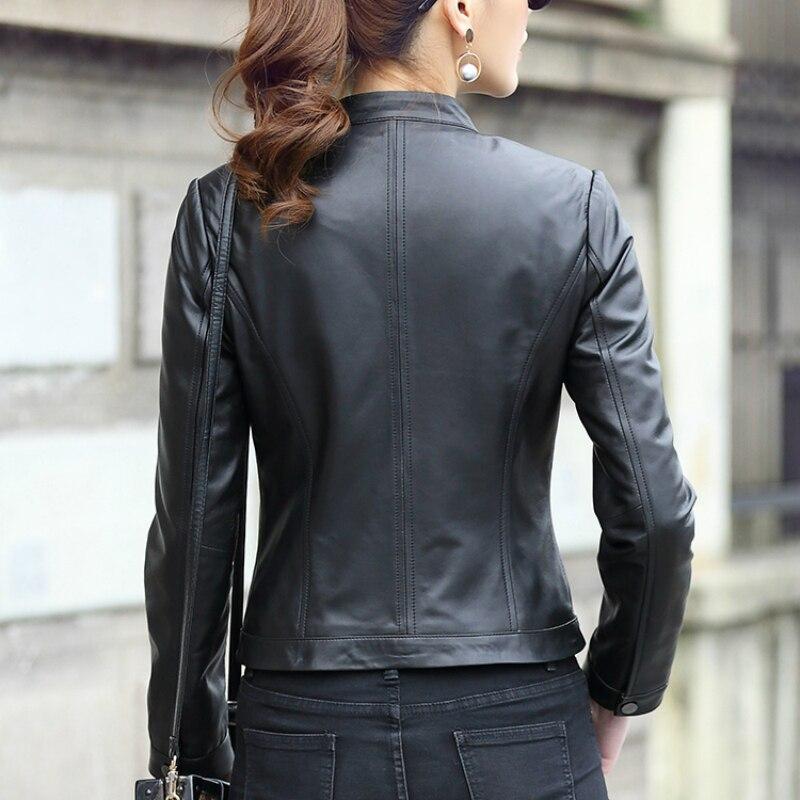 Genuine Leather Jacket Women Real Sheepskin Coat Female Montone Jacket Short Slim Outwear Spring Autumn Clothes LWL1452
