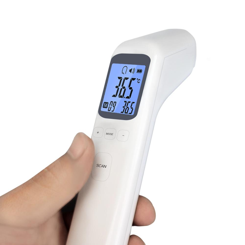Non-contact Digital Thermometer Infrared Forehead Body Thermometer Gun Fever Detector Temperature Measurement Device