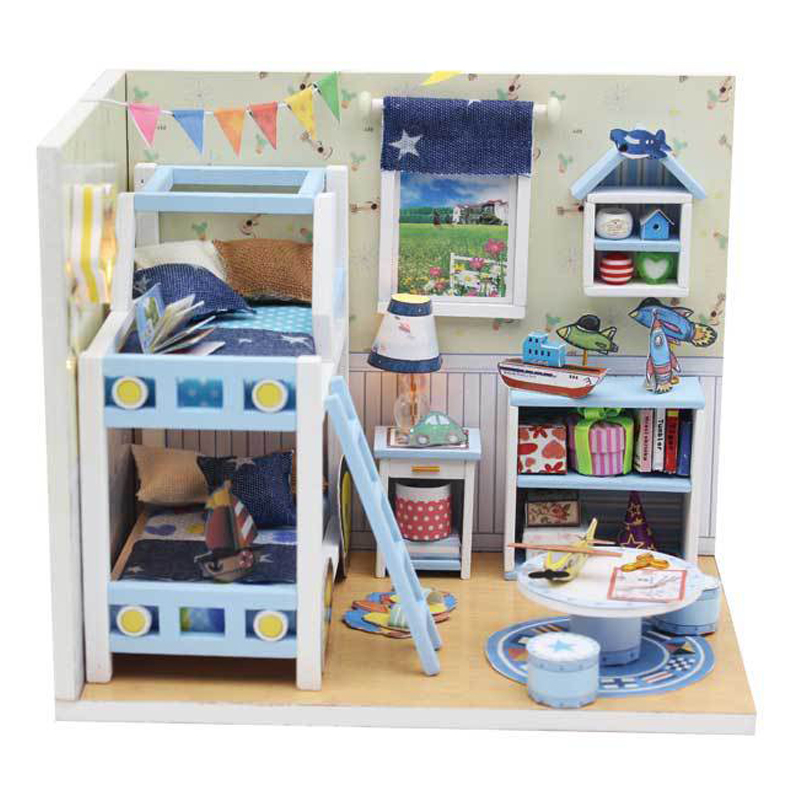 New Roombox Miniature DIY Dollhouse With Furnitures Wooden House Toys For Children Birthday Christmas Gifts