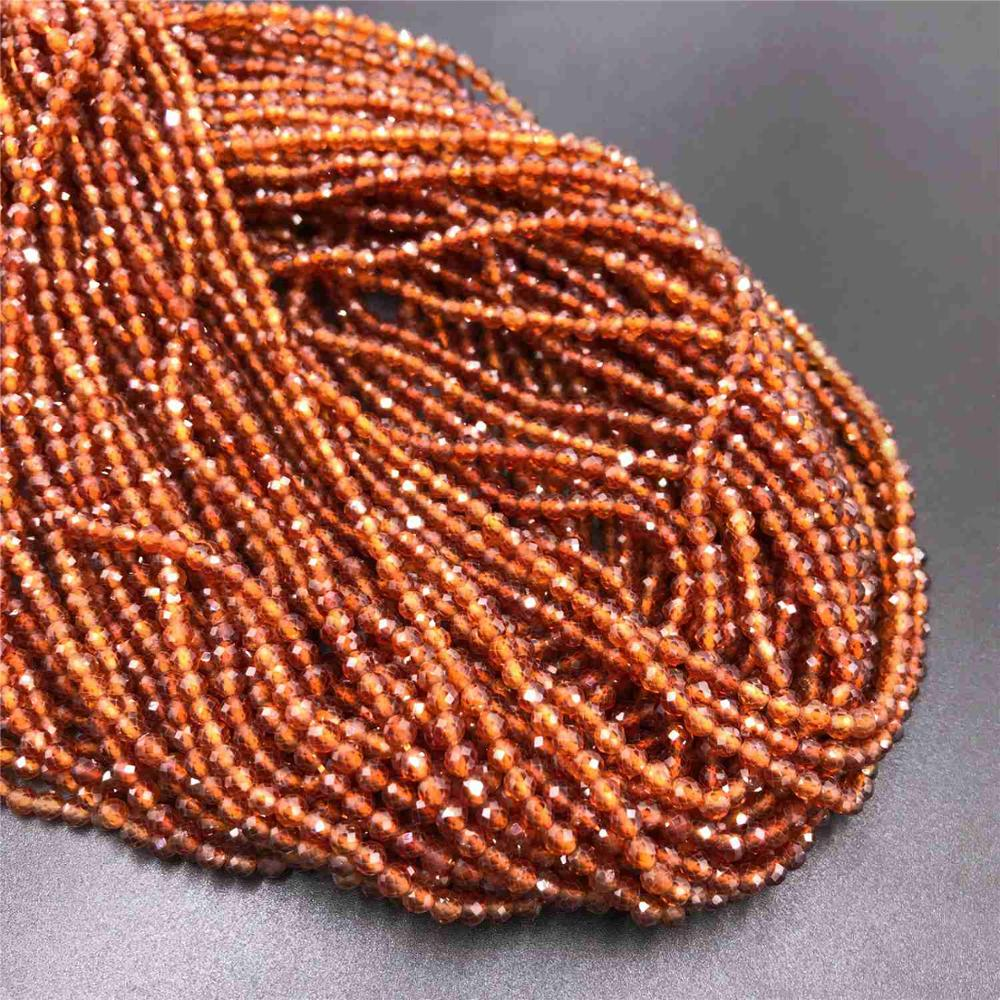 Piedra Natural Cuentas Sueltas Liso Granate redondo del grano de vidrio fabricación de Joyería Encantos