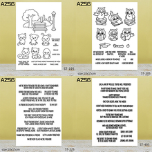 AZSG Lovely Animals / Friendship Wishes Word Clear Stamps For DIY Scrapbooking/Card Making/Album Decorative Silicone Stamp Craft