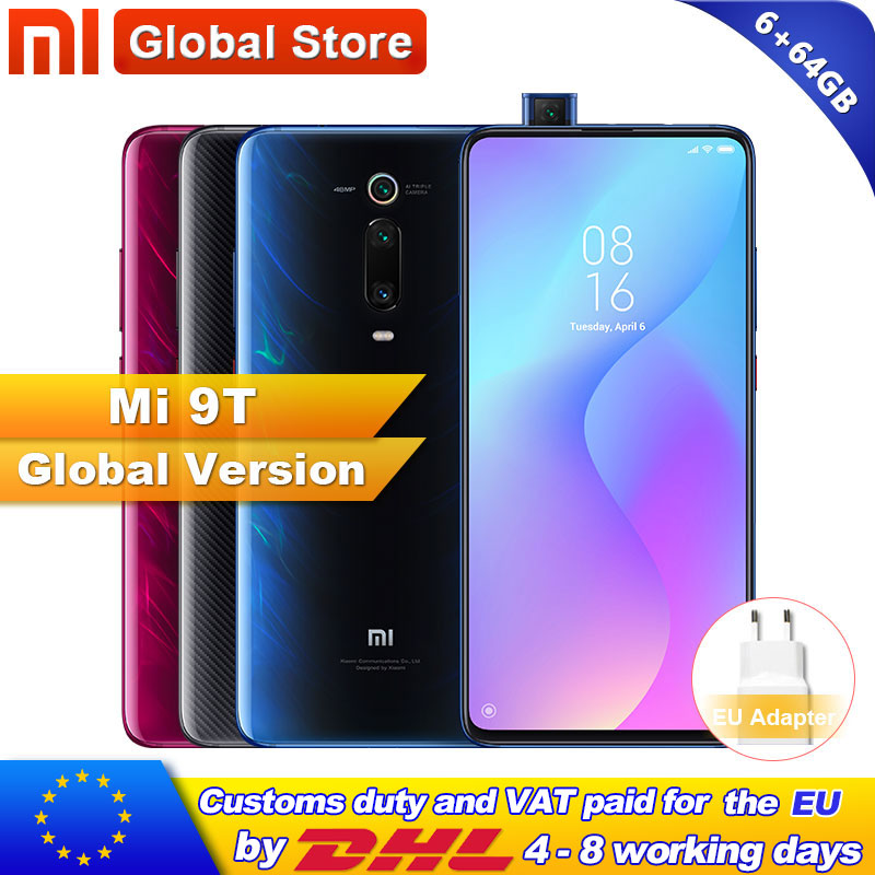 Global Version Xiaomi Mi 9T(Redmi K20 )6GB 64GB Smartphone Snapdragon 730 Octa Core 6.39