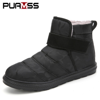 Men Boots Warm Winter Shoes 2019 New Lightweight Outdoor Snow Boots Warm Waterproof RainBoots Botas De Hombre Shoes Men
