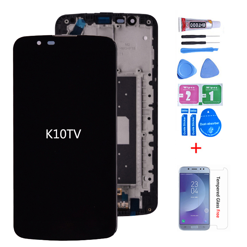 Original For LG K10 TV K10TV K430TV K410TV LCD Display With Touch Digitizer Assembly With Frame( Not For K10 ) Free Shipping