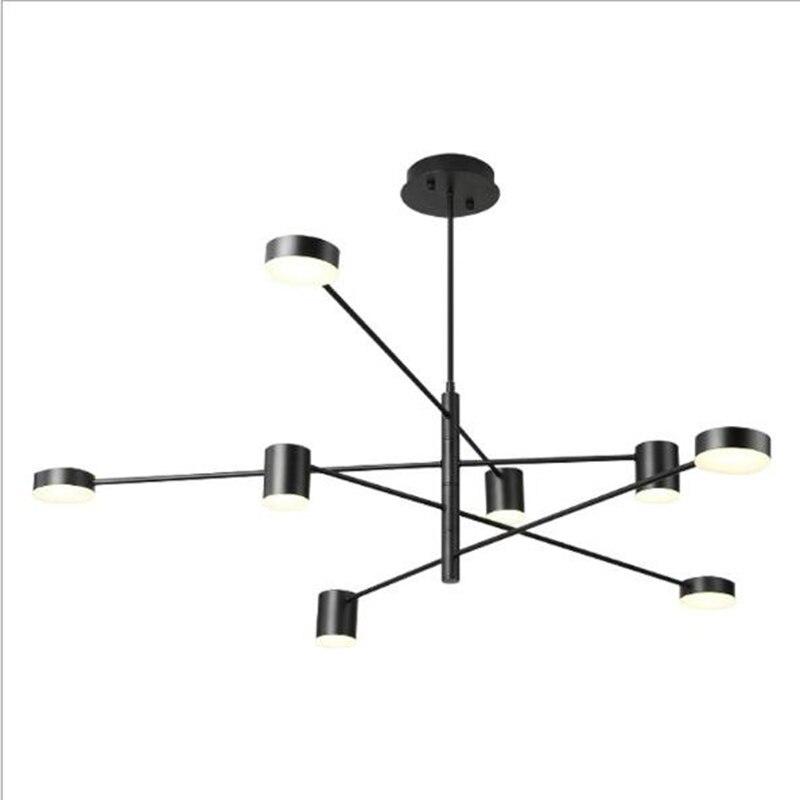 Ресторан Led подвесные светильники для гостиной столовой золотой черный искусство Скандинавский дизайн промышленный подвесной светильник