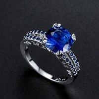 Горячая Распродажа, дизайн, роскошное большое овальное CZ кольцо золотого цвета, обручальное кольцо, хорошее ювелирное изделие для женщин, ювелирных изделий - Цвет основного камня: 10