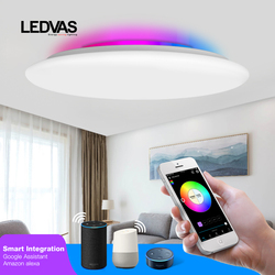 LEDVAS smart ceiling light WIFI voice control 28W 36W 55W 68W RGB dimming APP control living room bedroom kitchen ceiling lamp
