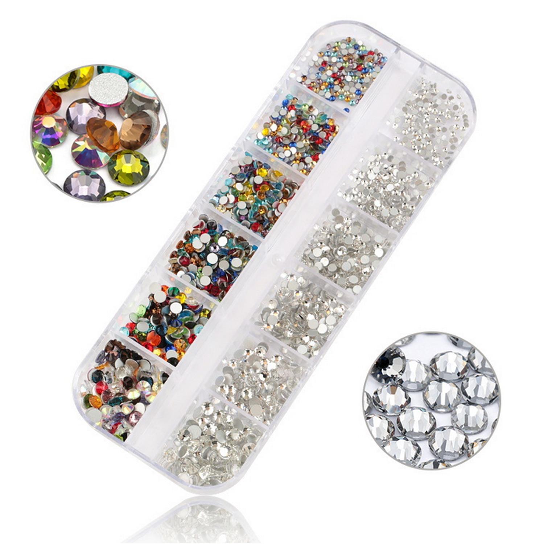 6 paquetes pequeños rhinestones de Manualidades Arte en Uñas Cristal Bling De Manualidades Tarjeta Nuevo