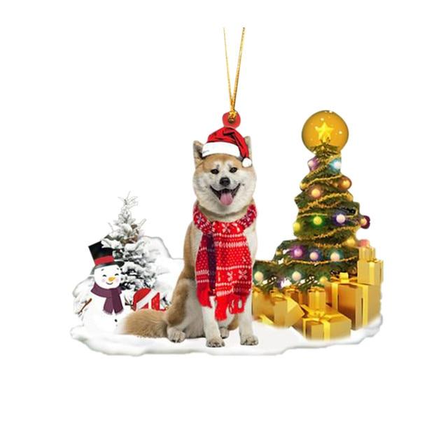 Dog Snowman Ornament  4