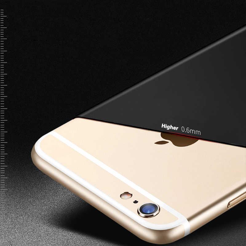 Funda de teléfono de Color mate para iPhone X XR XS Max fundas ultrafinas suave trasera de silicona TPU para iPhone 6 iPhone 6 6s 7 8 Plus 5S SE