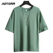 2021 novedad de verano de los hombres Camiseta cuello pantalón corto Casual de manga larga Camiseta Hombre transpirable Color sólido Tops Jersey camiseta camisetas de Hip Hop