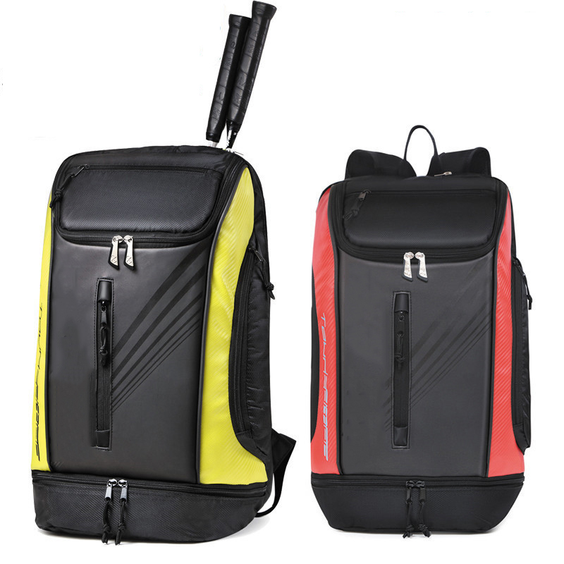 Head Tennis Bag Sports Badminton Backpack With Shoes Bag  Hold 6-9 Rackets Training Tennis Bags Backpack Outdoor Tennis Racket