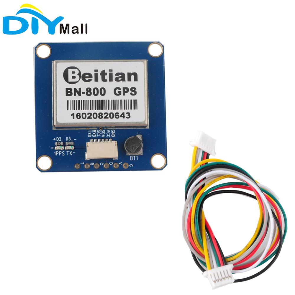 Beitian BN-800 GPS Module With Flash GPS Glonass BeiDou GPS Passive Antenna For Aircraft Pixhawk Flight Control