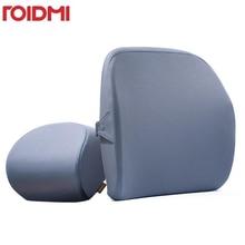 Roidmi Car Headrest Pillow Cushion 60D Sense of memory cotton Washable Lumbar For Office & Car Fast shipping