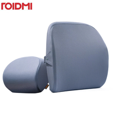 Roidmi araba kafalık yastık minder 60D duygusu bellek pamuk yıkanabilir lomber ofis ve araba hızlı kargo