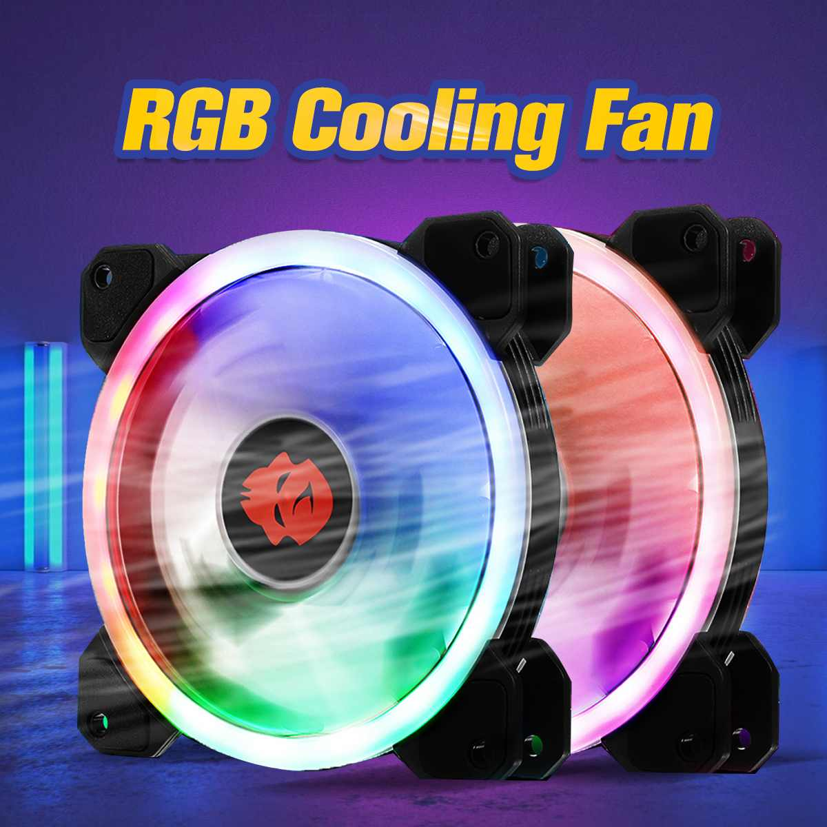 120mm High Air Flow LED Computer CPU Cooling Fan Cooler RGB Silent CPU Cooling Fans CPU Radiator Heatsink For PC Case image