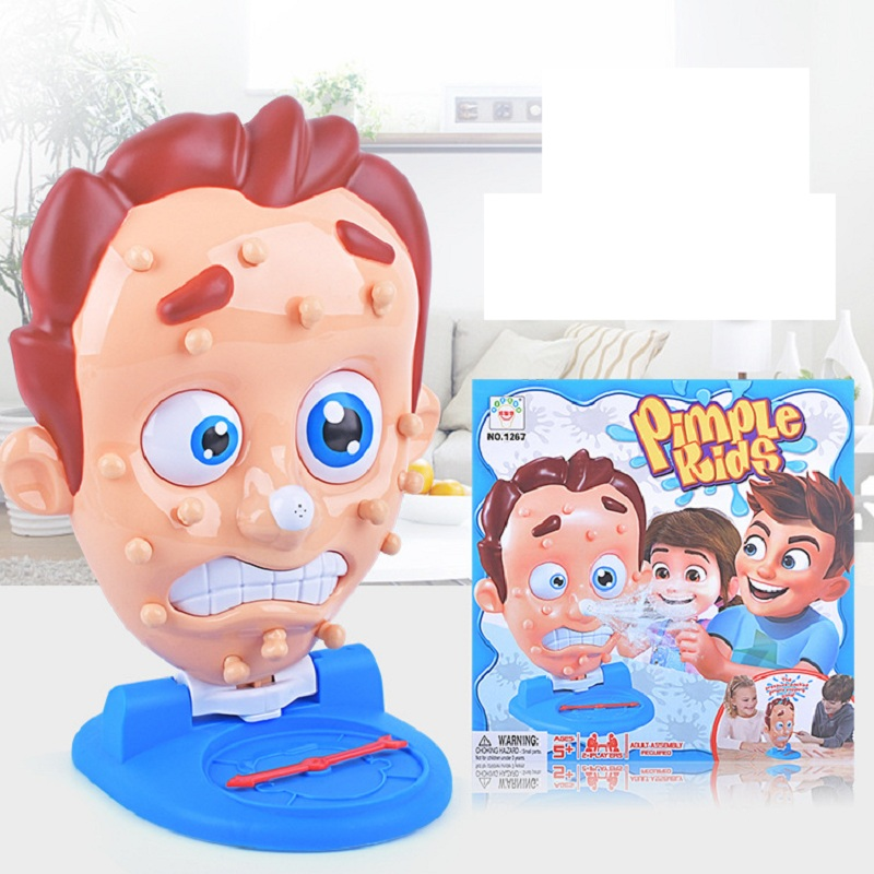 Funny Toys Squeeze Acne Toy Popping Pimple Pete Parent-Child Board Games Water Spray Novelty Gags Fun Children Toys Gift