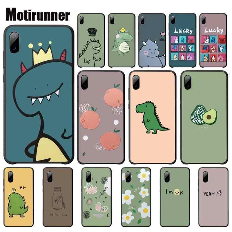 Motirunner Del Fumetto di Modo Sveglio del Dinosauro di Fruitluxury Mobile Per Il Caso di Xiaomi Mi 5 6 6x8 Se Lite Della Miscela 2 2s 3 Telefono Accessori