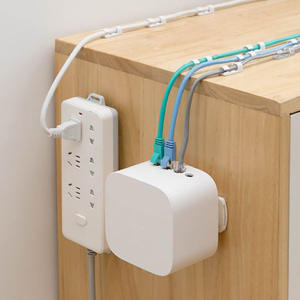 Power Strip Holder Desk Organiser wall-mounted Strong Seamless Home Free Punching Socket Hanging Wall Home Storage Supplies