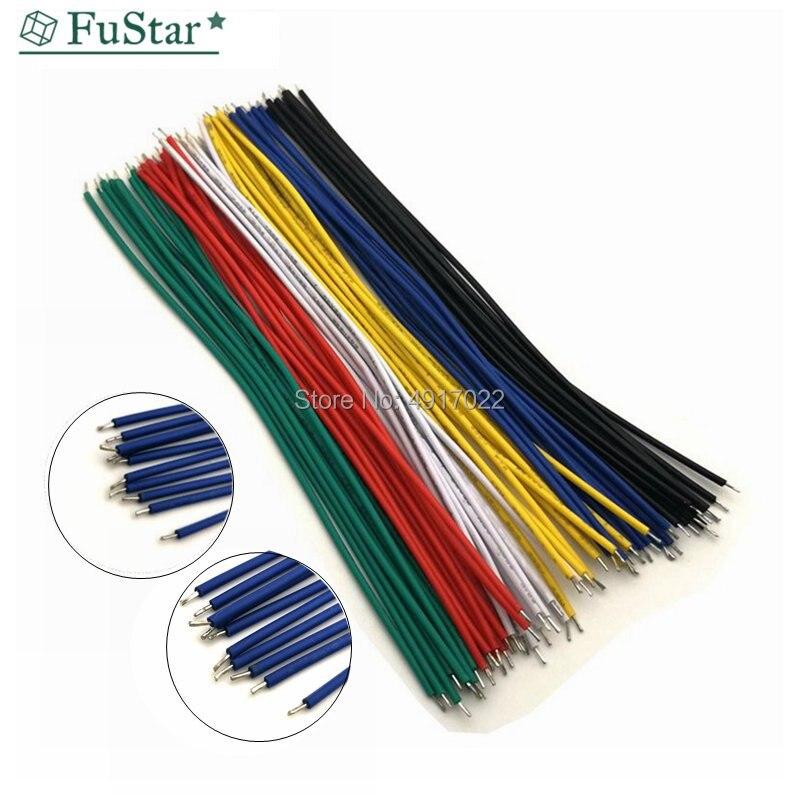 Оловянная макетная плата, 100 шт./лот, припой PCB, кабель 24AWG 8 см, соединительный провод Fly Jumper, оловянный проводник, провод 1007-24AWG